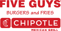 Five Guys and Chipotle Logo